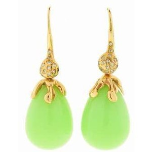 lucifer vir honestus green opal earrings