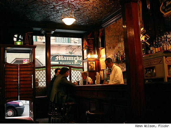 Interior of Harry's Bar, Paris