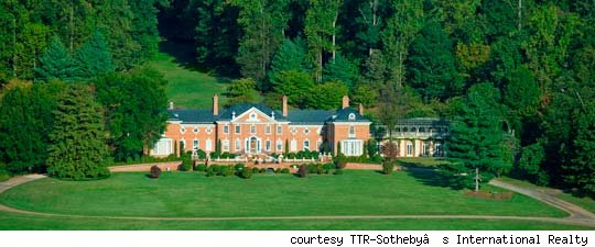 Aerial view of Albemarle House.