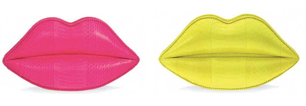 lulu guinness lips clutch