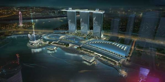 marina bay sands. The Marina Bay Sands resort in