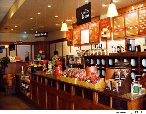 Peet's Coffee is nominated for a Luxist Award for Best Coffee House