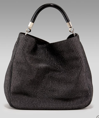 Yves Saint Laurent Raffia Hobo