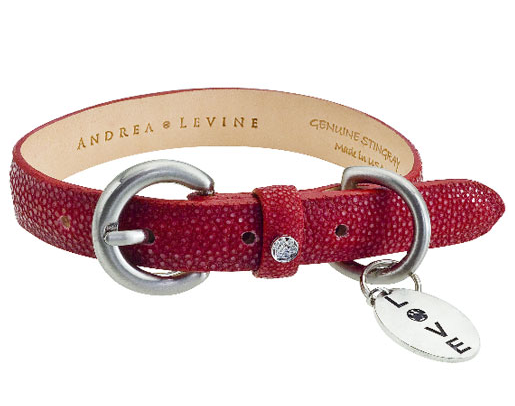 Andrea Levine Exotic Leather Dog Collars