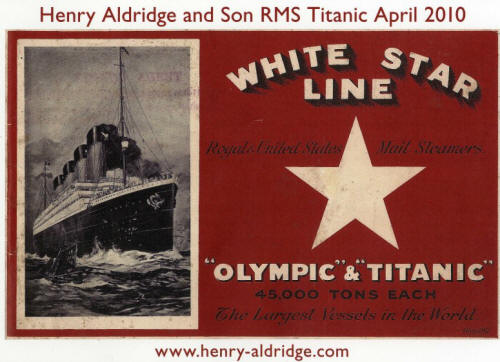 henry aldrige titanic auction