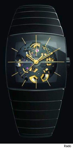 rado sintra skeletonized watch