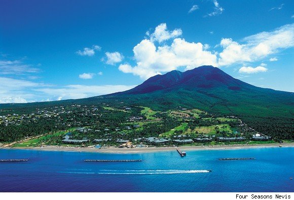 Aerial view of the Four Seasons Nevis