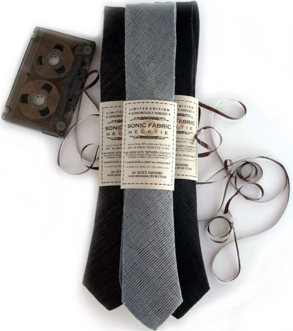 Recycled Cassette Tape Neckties