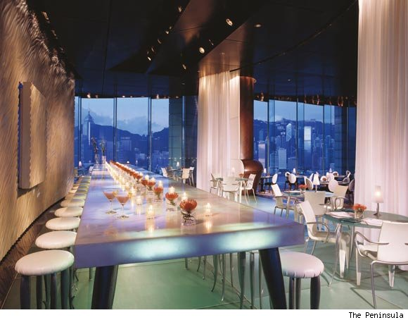 Felix at the Peninsula Hotel in Hong Kong is nominated for a best hotel bar award by Luxist
