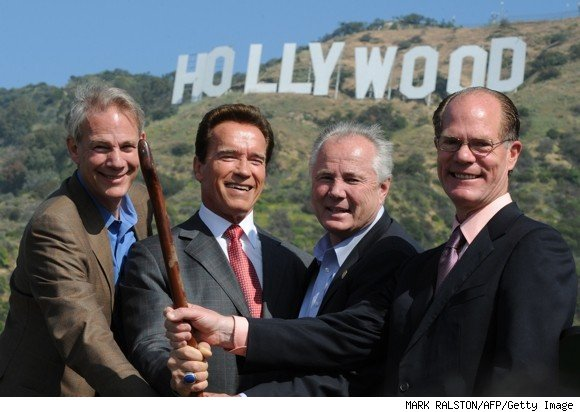 hollywood sign save the peak
