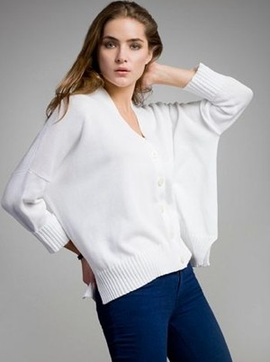 white + warren cardigan