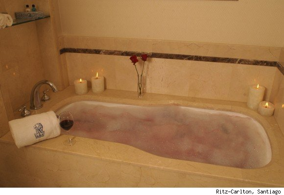 Always drink wine with your wine bath.