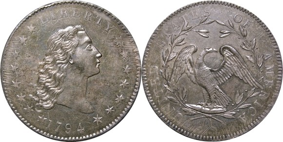 1794 silver coin