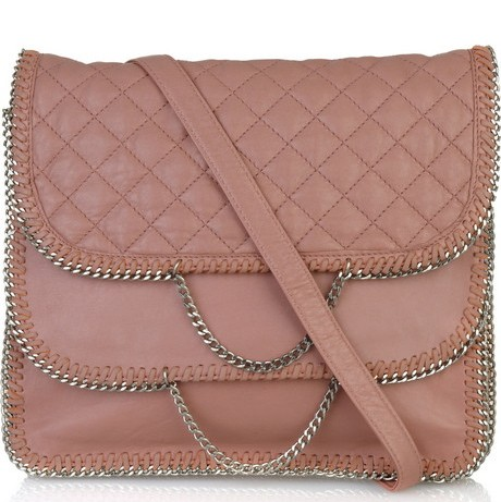 DKNY Quilted Leather Chain Handbag