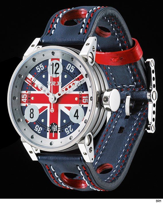 BRM V7-38 and V6-44 Union Jack Watches