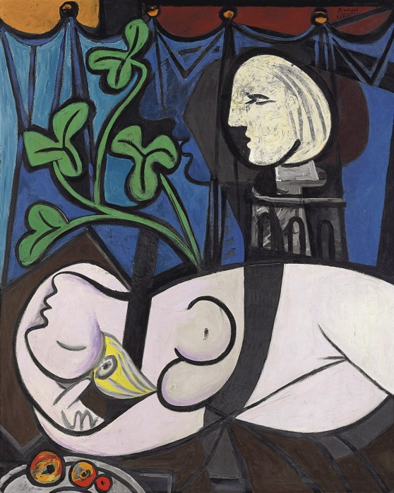 picasso nude green leaves and bust