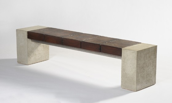 Concrete And Wood Bench Future Projects Pinterest