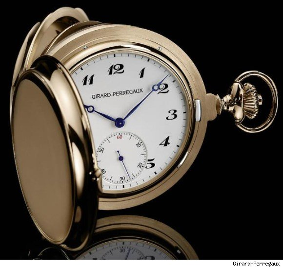Girard-Perregaux Tourbillon With Three Gold Bridges Pocket Watch 