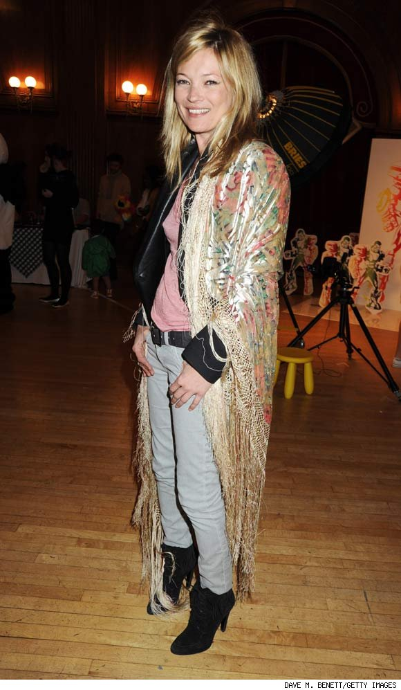Kate Moss Channeling a Bohemian Look at the Launch of Stella McCartney's New Line for GapKids in London