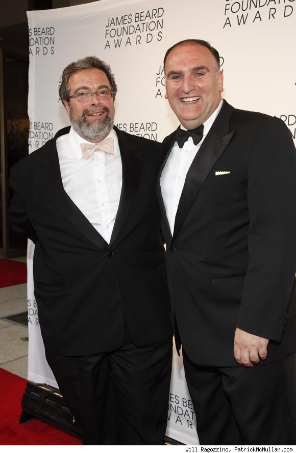 Washington, D.C. chef/restauranteur Jose Andres and New York restauranteur Drew Nieporent, who served as a presenter