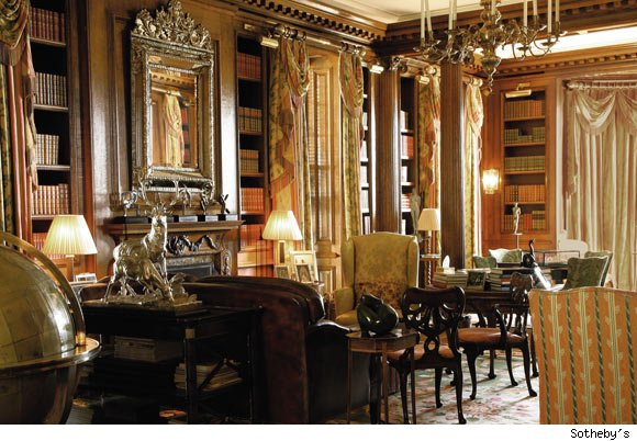 The library at Albemarle House