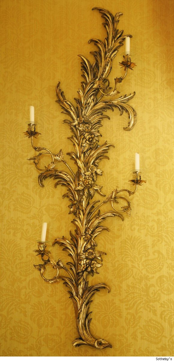 Pair of George III Giltwood Four-Light Wall Lights