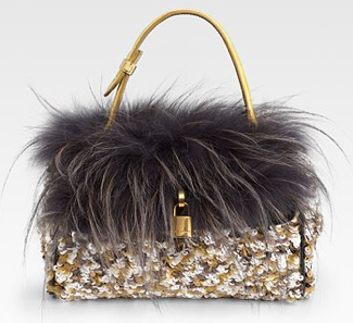 Marc Jacobs Gilda Fur Handbag