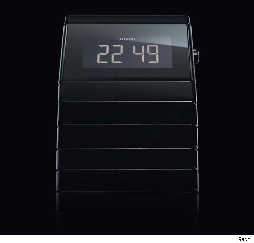 rado ceramica digital automatic watch