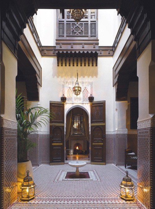 Riad Courtyard with Fountain