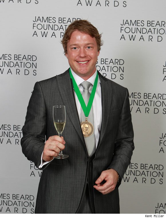 Timothy Hollingsworth of The French Laundry won the Rising Star Chef award