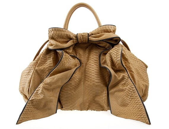 Villador Python Giant Bow Tote Bag