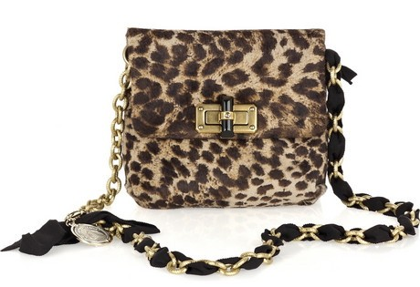 Lanvin Mini Pop Leopard Print Handbag