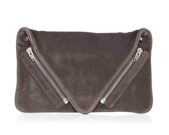 alexander wang leather clutch