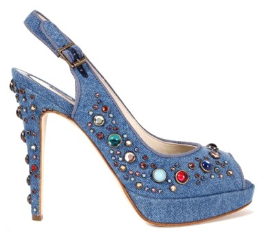 Brian Atwood Denim Court Shoes