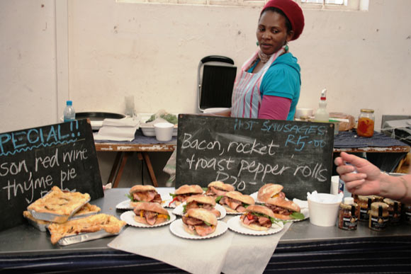 Sandwiches for sale at the Biscuit Mill.