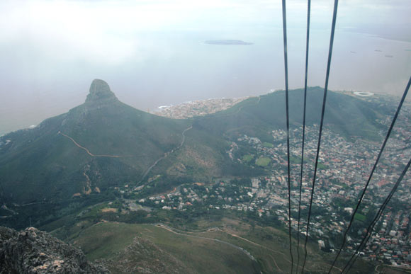 The view from the Table Mountain Cableway.