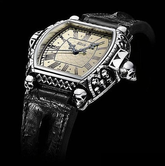 Daniel Strom Memento Mori Carpe Diem Skull Watch