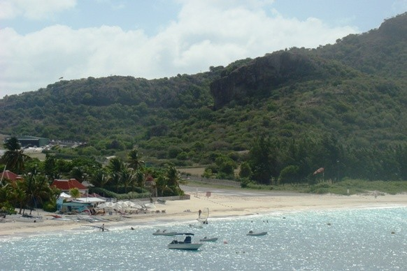 View of the Caribbean from Eden Rock