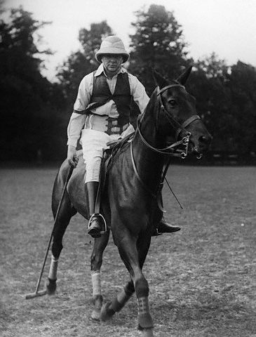 Winston Churchill in riding gear