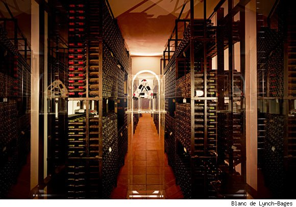 A Lynch-Bages storage room