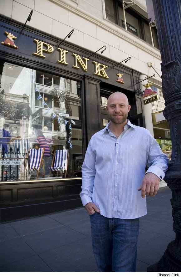 Baseball player Kevin Kouzmanoff of the Oakland Athletics at the Thomas Pink store in San Francisco, Ca.