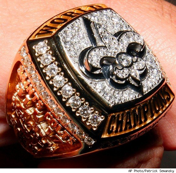 super bowl ring new orleans
