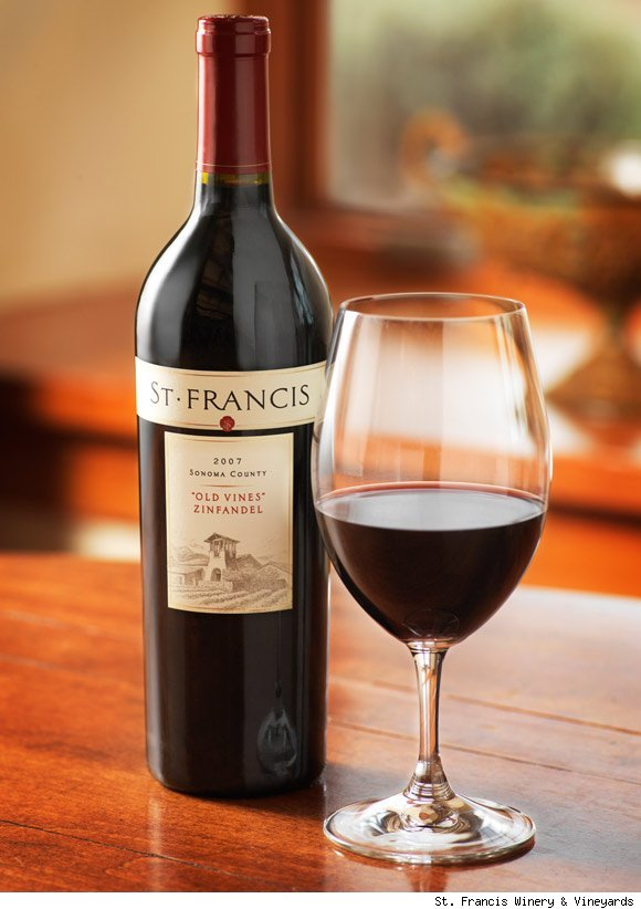 A bottle of St. Francis wine