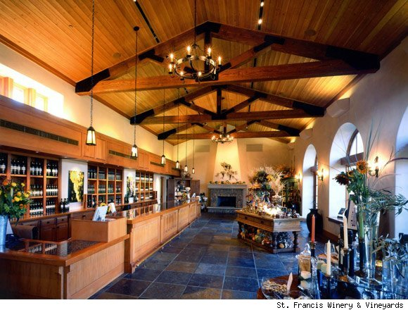The main tasting room at St. Francis Winery & Vineyards