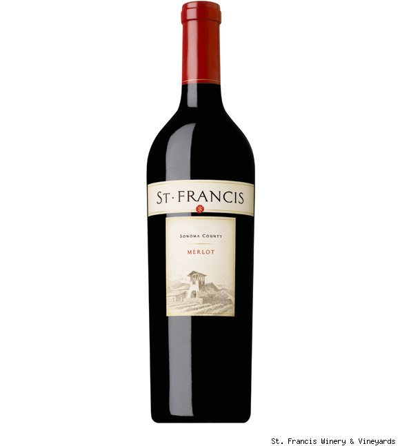 A bottle of St. Francis merlot