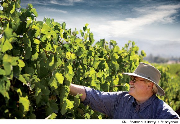 St. Francis' Director of Winemaking Tom Mackey