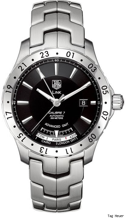 Tag Heuer Link Calibre 7 Advanced GMT Watch