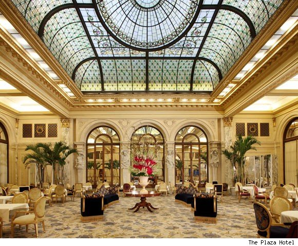 The Plaza Hotel recently reopened the newly renovated Palm Court.