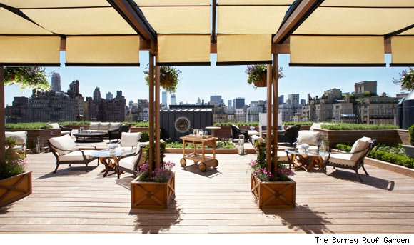 The Surrey Hotel's Private Rooftop Garden