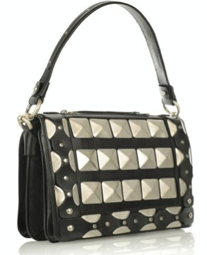 versace studded leather shoulder bag
